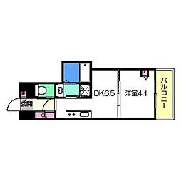 Osaka Metro御堂筋線 あびこ駅 徒歩8分の賃貸マンション 11階1DKの間取り