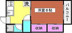 ハイツサチII[203号室]の間取り