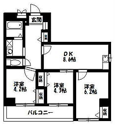 のぼるビル[6階]の間取り