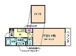大阪府池田市井口堂1丁目の賃貸マンションの間取り