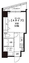 JR山手線 浜松町駅 徒歩8分の賃貸マンション 5階1Kの間取り