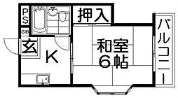 香里エムハイツ[2階]の間取り