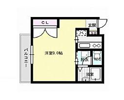 福岡県福岡市早良区室見2丁目の賃貸アパートの間取り