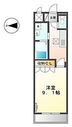 愛知県豊田市明和町7丁目の賃貸アパートの間取り