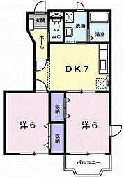 新潟県新潟市南区能登2丁目の賃貸アパートの間取り