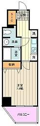 JR中央線 荻窪駅 徒歩14分の賃貸マンション 7階1Kの間取り