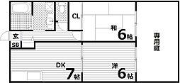 サンヒルハイツ[1階]の間取り