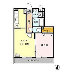 埼玉県草加市小山2の賃貸アパートの間取り