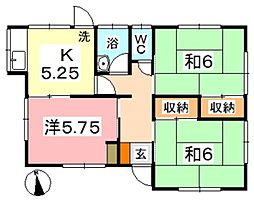 [一戸建] 岡山県倉敷市大島 の賃貸【/】の間取り