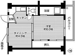 ビレッジハウス大阪池島1号棟[3階]の間取り