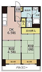 九番団地3号棟[7階]の間取り