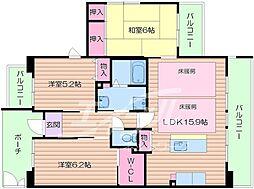 アルビス緑丘 112号棟[1階]の間取り