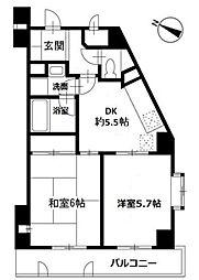 第5山庄ビル[301号室]の間取り