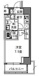 都営大江戸線 新御徒町駅 徒歩4分の賃貸マンション 7階1Kの間取り