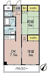 トーンハイム3[4階]の間取り
