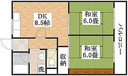 種村マンション2番館[2階]の間取り