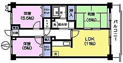 セラヴィ上宿[5階]の間取り