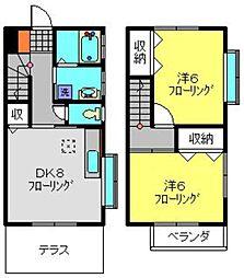 [テラスハウス] 神奈川県横浜市泉区上飯田町 の賃貸【/】の間取り
