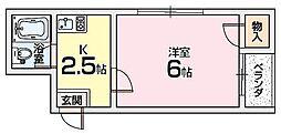 ほーむ21新之栄[4階]の間取り