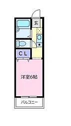 大阪府松原市上田2の賃貸アパートの間取り