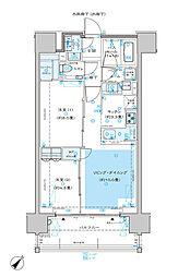 ディームス渋谷本町 13階2LDKの間取り