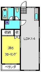 神奈川県横浜市南区南太田3丁目の賃貸マンションの間取り