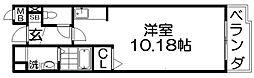 プログレNa 3階ワンルームの間取り