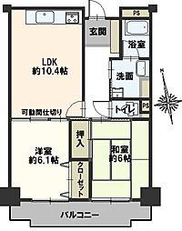豊田神田町コーポラス[2階]の間取り