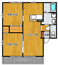 パームツリー[B101号室]の間取り