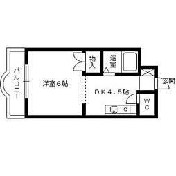 ソレイユ箱崎[402号室]の間取り