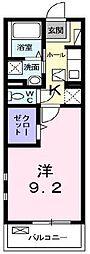 つくばエクスプレス 八潮駅 徒歩7分の賃貸マンション 1階1Kの間取り