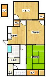 [一戸建] 福岡県久留米市梅満町 の賃貸【/】の間取り