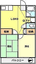 T−net コーポ梅の木[201号室]の間取り
