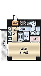 ルフレ堺[4階]の間取り