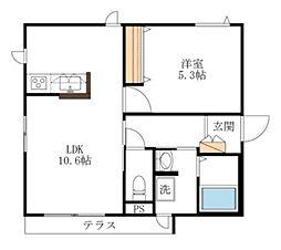 東京メトロ丸ノ内線 茗荷谷駅 徒歩6分の賃貸マンション 1階1LDKの間取り