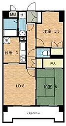 神奈川県横浜市都筑区南山田2丁目の賃貸マンションの間取り