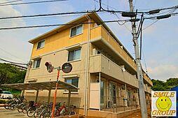 千葉県松戸市高塚新田の賃貸アパートの外観
