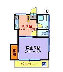 寿荘B棟[2階]の間取り