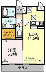 JR京浜東北・根岸線 大宮駅 徒歩23分の賃貸アパート 3階1LDKの間取り