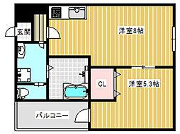 アッシュメゾン加美正覚寺V[1階]の間取り