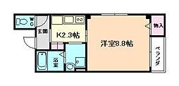 クレスト京橋[2階]の間取り