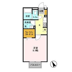 ボンヌールIII[2階]の間取り