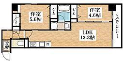 Osaka Metro谷町線 平野駅 徒歩6分の賃貸マンション 4階1SDKの間取り