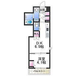 Osaka Metro御堂筋線 あびこ駅 徒歩8分の賃貸マンション 10階1DKの間取り