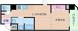 PARK HILLS都島~縁~ 6階1LDKの間取り