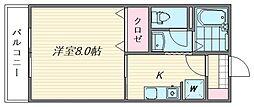 セジュールM・S[118号室]の間取り