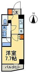S-RESIDENCE曳舟 2階1Kの間取り
