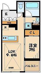 小田急小田原線 祖師ヶ谷大蔵駅 徒歩9分の賃貸マンション 1階1LDKの間取り