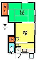戸沢荘[2階]の間取り