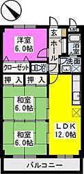 レスピーザII[6階]の間取り